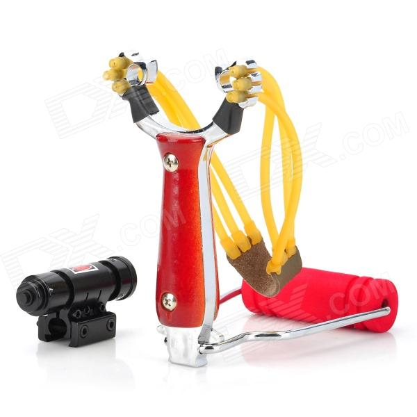 Fire Phoenix Stainless Steel Slingshot w/ Red Laser Gun Sight - Red + Silver борцовка с полной запечаткой printio руслан
