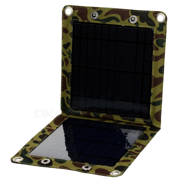 Miniisw SW070 Portable 7W Solar Panel Battery Pack for Cellphone - Camouflage