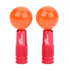 OQSPORT Cute Round Ball Style Bike Tyre Wheel Valve Cap - Red