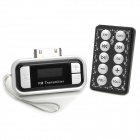 Car fm transmitter w/ microphone / remote controller for iphone 4 / 4s - black + silver