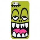 Protective Laughing Face Pattern Plastic Back Case for Iphone 5 - Light Green + Black + White + Pink