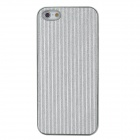 Protective Shining Vertical Strips Pattern Back Case for Iphone 5 - Silver