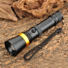 KX-W013 Cree XP-E R2 230lm 3-Mode White Zooming Flashlight - Silver + Golden (1 x 18650 / 3 x AAA)