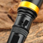 KX-W013 230lm 3-Mode White Zooming Flashlight w/ Cree XP-E R2 - Silver + Golden (1x18650 / 3xAAA)