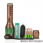 KX-W15 230lm 3-Mode White Zooming Flashlight w/ Cree XP-E R2 - Brown + Dark Green (1x18650 / 3xAAA)