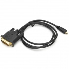 OFC DVI Male to Micro HDMI Male Connection Cable for Motorola XT800 / HTC Cellphones - Black (100cm)