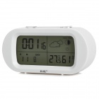 "KeJian DZ01 Multifunction 3.9"" LCD Digital Thermometer / Hygrometer - White + Silvery Grey"