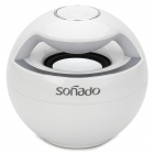 Sonado F16 Mini Portable Wireless Bluetooth Speaker w/ Mic / Receiving Call - White