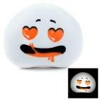 Creative Expression Style Bedroom Night Light Operated Lamp - White + Orange + Black