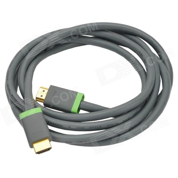 CE-Link 2218 1080P HDMI 1.4 Gold-plated Male to Male Flat Connection Cable - Gray + Green (200cm)