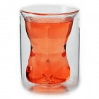 Creative Muscle Men Style Double Walled Glass Body Cup - Transparent