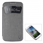 USAMS Sky Series PU Leather Case w/ Caller ID Window for Samsung Galaxy S4 i9500 - Black