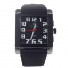 Super Speed V0124  Men's Square Dial Wide Band Quartz Wrist Watch - Black + White+Red (1 x LR626)