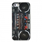 Protective Radio Pattern Plastic Back Case for Iphone 5 - Multicolor