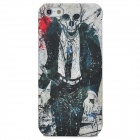 Protective Mr. Vampire Pattern Plastic Back Case for Iphone 5 - Multicolor