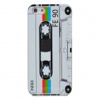 Protective Cassette Pattern Plastic Back Case for Iphone 5 - White