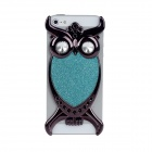 Fashion Owl Style Protective PVC Back Case for Iphone 5 - Green + Black