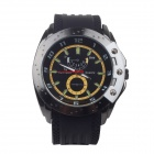 Super Speed P0168 Fashionable Men's Quartz Watch - Yellow + Black + White + Green (1 x LR626)
