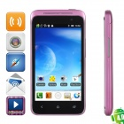 "i9900 (TSM) Android 4.0 GSM Bar Phone w/ 4.0"" Capacitive Screen, Wi-Fi and Dual-SIM - Black + Purple"