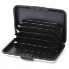 Water Resistant Credit Card Holder Case w/ 6 Slots - Silver + Black