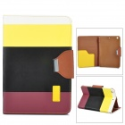 Protective PU Leather + ABS Case w/ Holder for Ipad MINI - Colorful