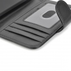 Protective PU Leather Flip-Open Case for HTC One / M7 - Black