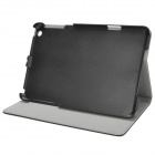 Protective Flip-Open PU Leather + ABS Case for Ipad MINI - Black + Grey