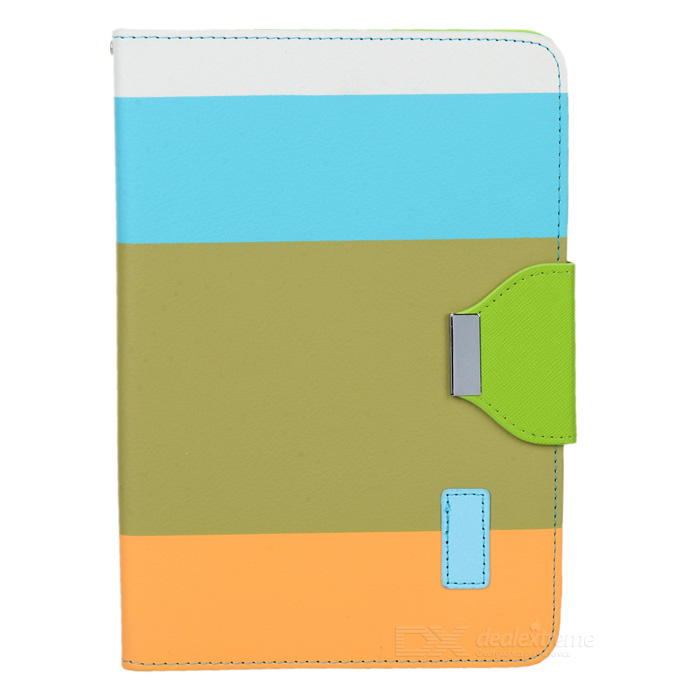 Protective PU Leather + ABS Holder Case w/ Strap for Ipad MINI - Colorful