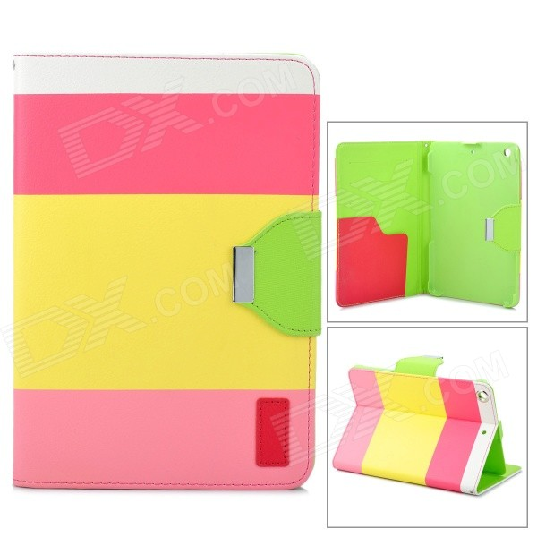 Protective PU Leather + ABS Case w/ Holder fro Ipad MINI - Colorful