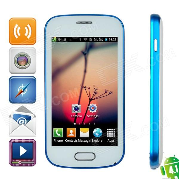"M-HORSE7562 (SPHS on Hsdroid) Android 4.1 GSM Phone w/ 4.0"" Capacitive, Quad-Band and Wi-Fi - Blue"