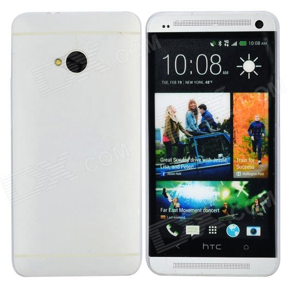 TEMEI Protective Plastic Back Case for HTC One M7 - White