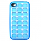 Soft Bubble Style Protective TPU Back Case for Iphone 4 / 4S - Blue