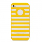 Ladder Designed Protective Plastic Case for Iphone 4 / 4S - Yellow