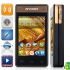 "BEDOVE X5 Android 4.0.4 GSM Klapphandy w / 3,2 ""Dual Screen, Dual - Band und Wi-Fi - Schwarz + Golden"