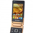 "BEDOVE X5 Android 4.0.4 GSM Flip Phone w/ 3.2"" Dual Screen, Dual - Band and Wi-Fi - Black + Golden"