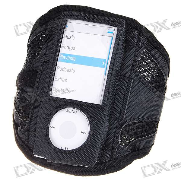 Trendy Sports Armband for Ipod Nano 5 (Black)