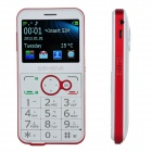 "P680 GSM Old Senior Bar Phone w/ 2.3"" Screen, Dual-Band, Dual-SIM and FM - White + Red"