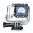 Side Opening Protective Case w/ Lens for GoPro Hero 3 / 3+ Camera - Black + Transparent