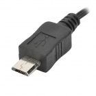 Retractable USB 2.0 Male to Micro 5 Pin Male Data Cable - Black (110cm)