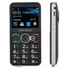 "P680 GSM Old Senior Bar Phone w/ 2.3"" Screen, Dual-Band, Dual-SIM and FM - Black + Silver"