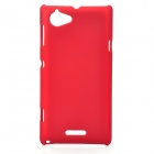 Quicksand Style Protective Plastic Back Case for Sony Xperia L S36h - Red