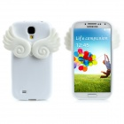 3D Angle Wings Cloud Style Protective Silicone + TPU Back Case for Samsung Galaxy S4 i9500 - White