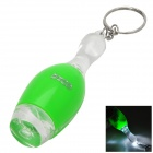 PZCD PZ-11 Bowling Style LED White Flashlight Keychain - Green (3 x AG3)