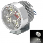 GZTC03 12W 300lm 6000K 4-LED White Light Headlamp for 12~84V Electric Car / Motorcycle - Silver