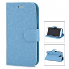 Fashion Football Pattern Protective ABS Flip-Open Case for Samsung Galaxy S4 / i9500 - Blue