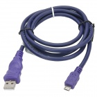 Millionwell 01.0287 USB Male to Micro USB Male Data / Charging Cable - Purple (1.2m)