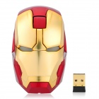 Genuine E-BLUE Marvel Iron Man 3 Golden Collective Edition 1000DIP 2.4GHz Wireless Mouse - Golden
