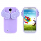 3D Angle Wings Cloud Style Protective Silicone + TPU Back Case for Samsung Galaxy S4 i9500 - Purple