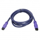 Millionwell 01.0300 Gold-Plated IEEE1394 9-Pin to 9-Pin Data Cable - Purple (1.8m)