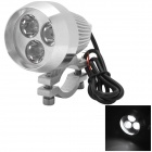 15W 600lm White 3-CREE XP-E LED Spotlight for Motorcycle / Electric Car - Silver (12~80V)